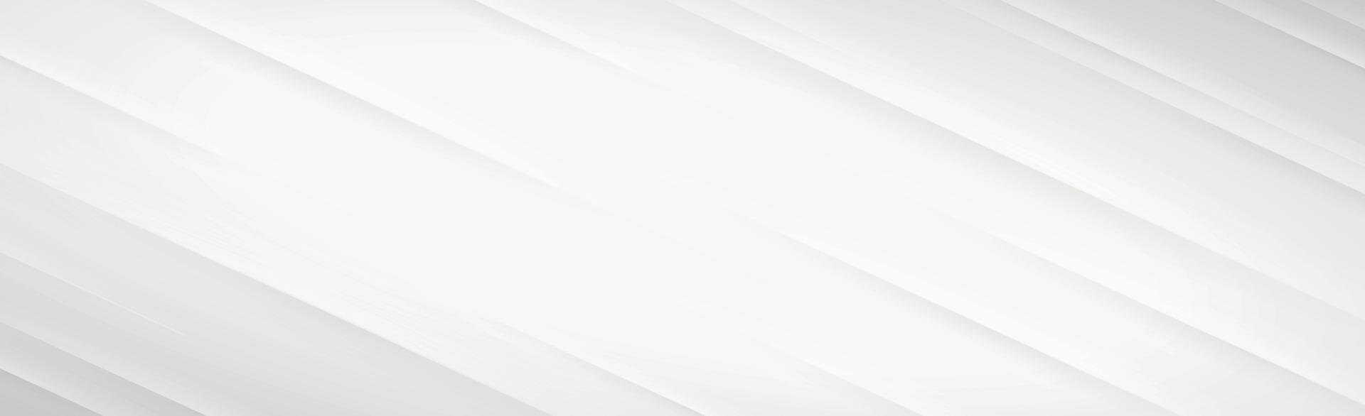 weißer Vektorpanoramahintergrund mit geraden Linien und Schatten vektor
