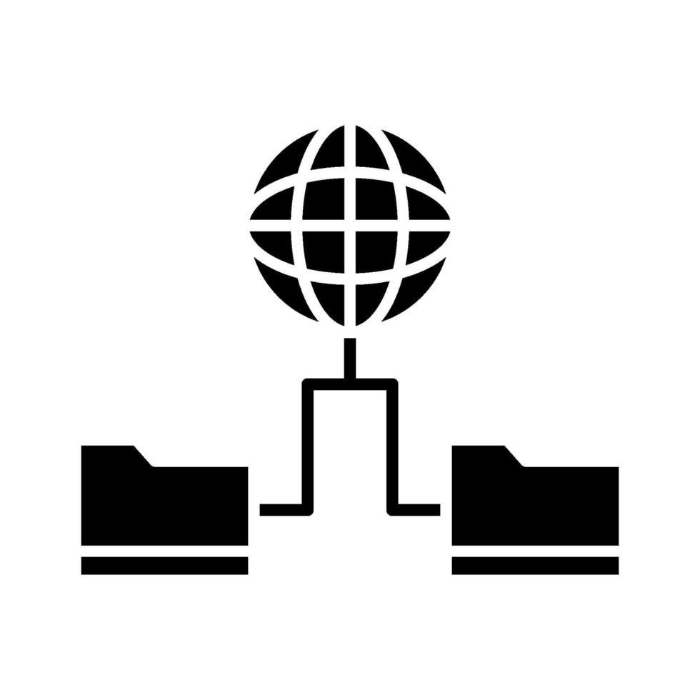världens data ikon vektor