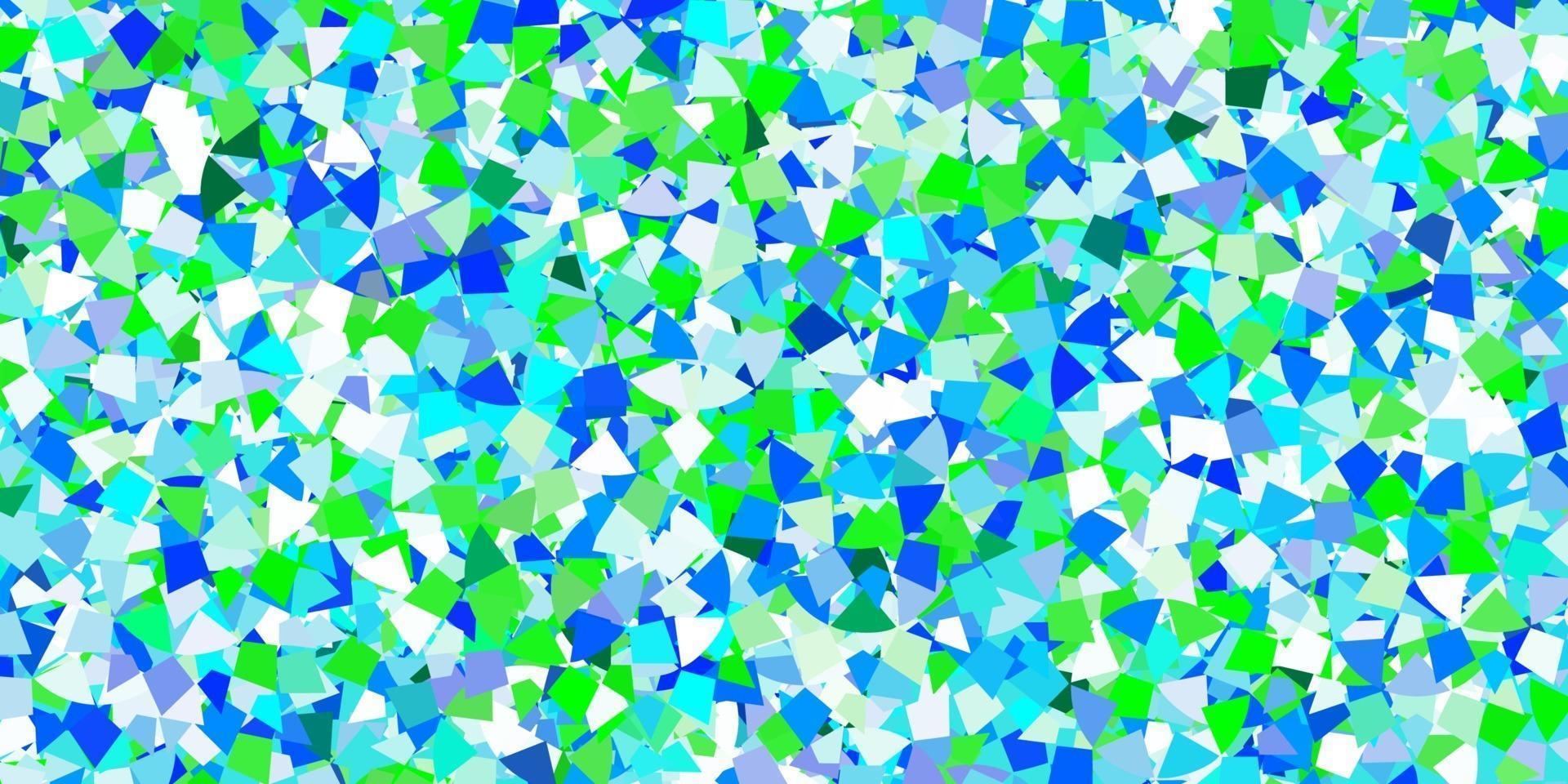 hellblauer Vektorhintergrund mit polygonalem Stil. vektor
