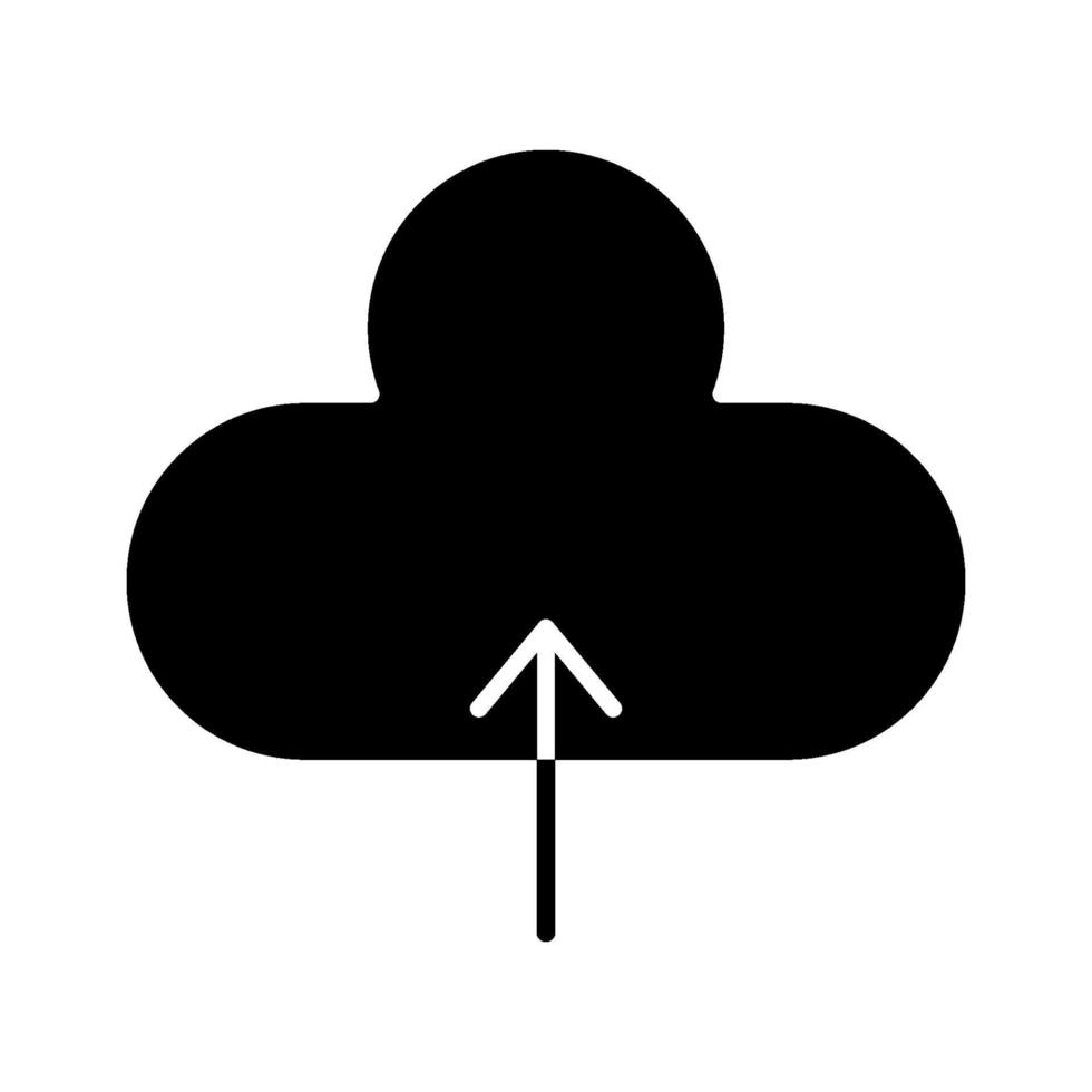 Cloud-Upload-Symbol vektor