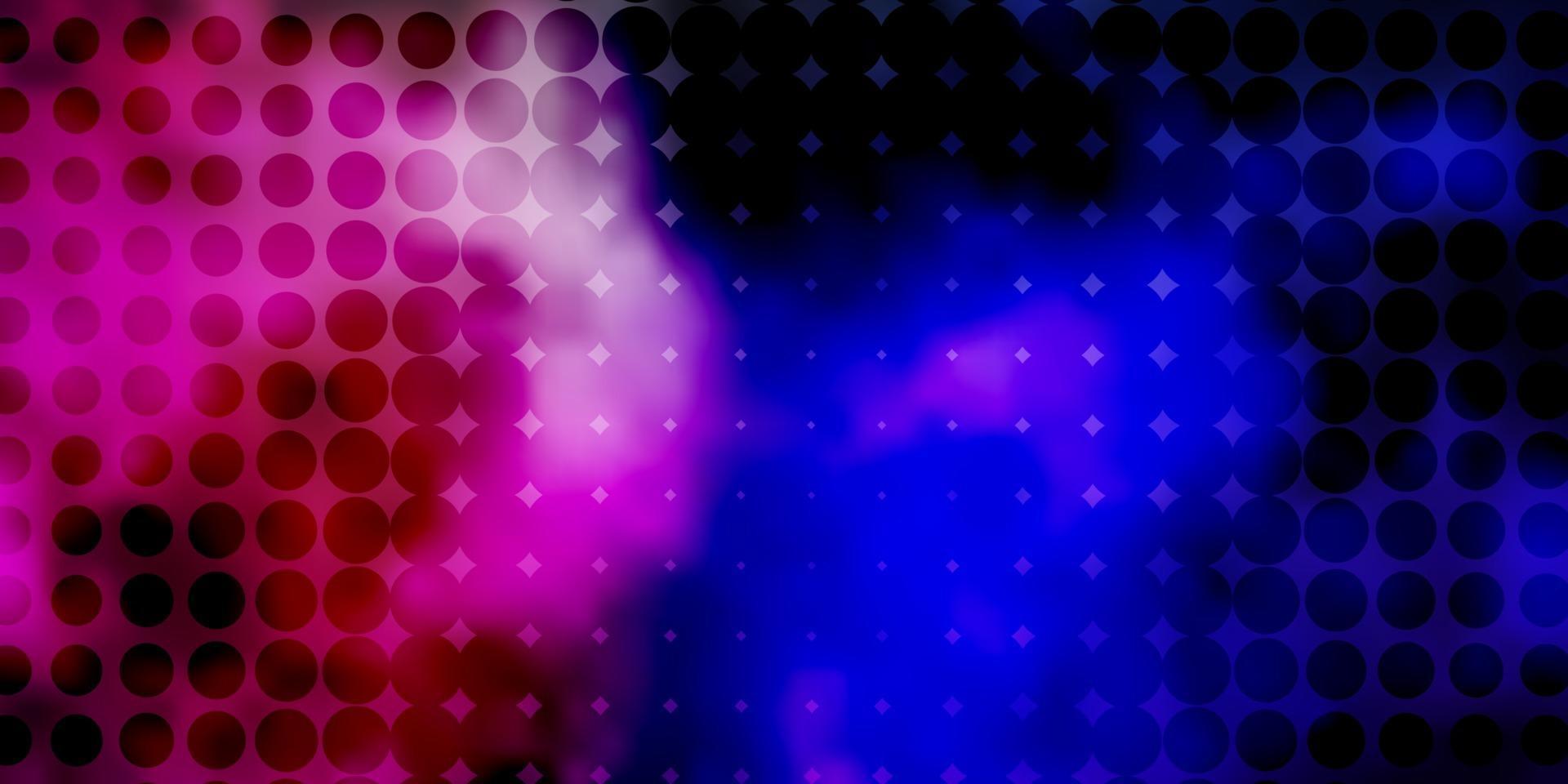 mörkrosa, grön vektorlayout med cirklar. vektor