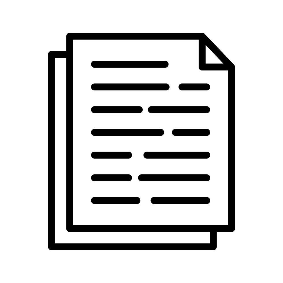 Dokumente Vektor-Symbol vektor