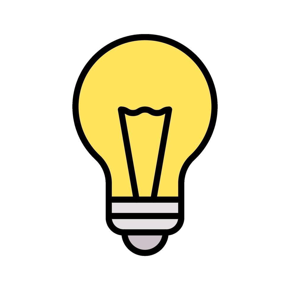glödlampa vektor ikon