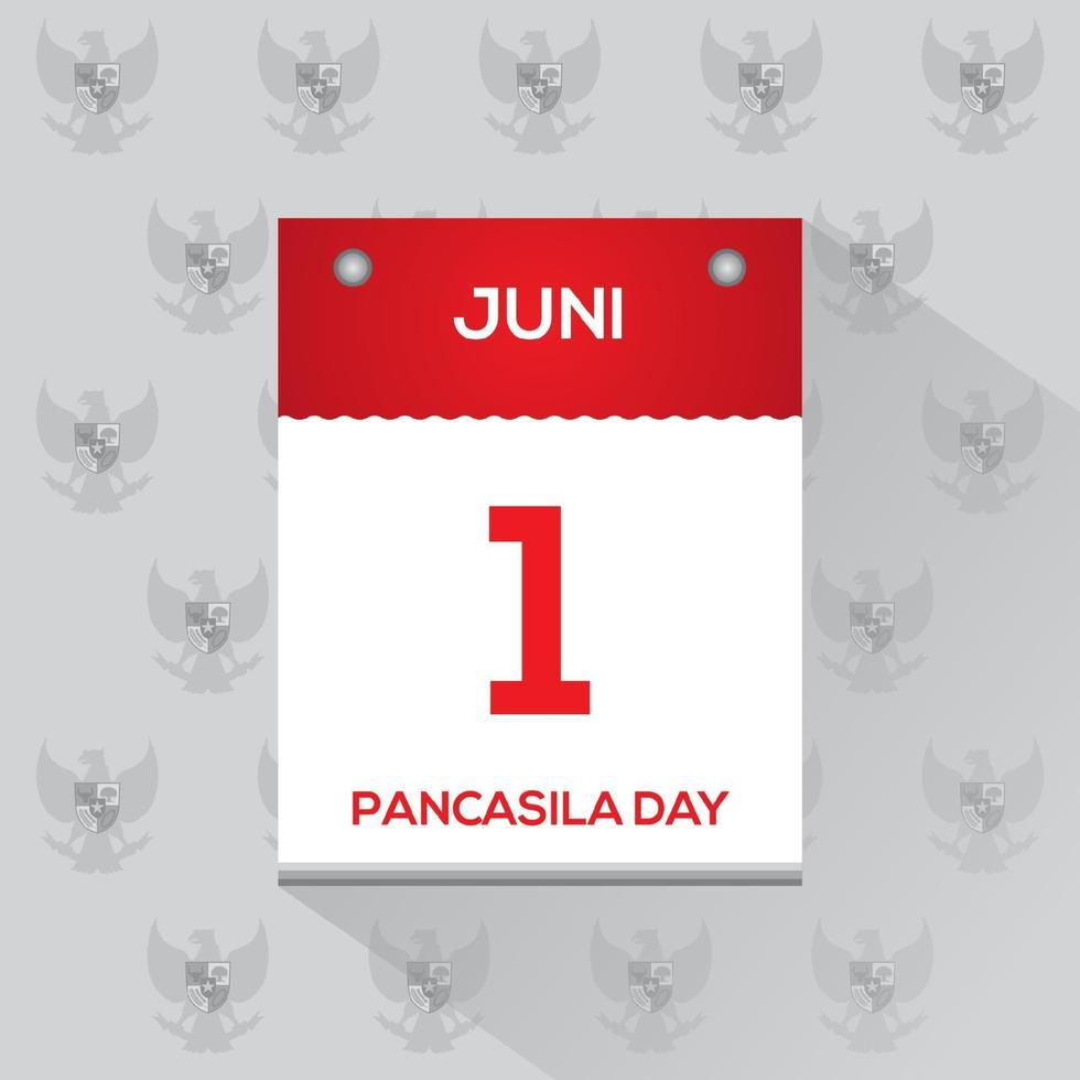 glad pancasila dag vektor