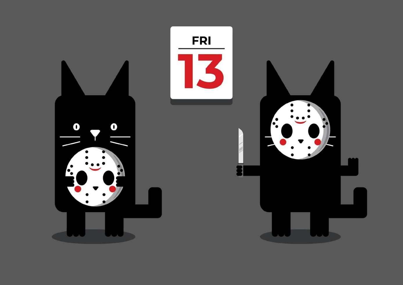 Freitag die 13. schwarze Katze vektor