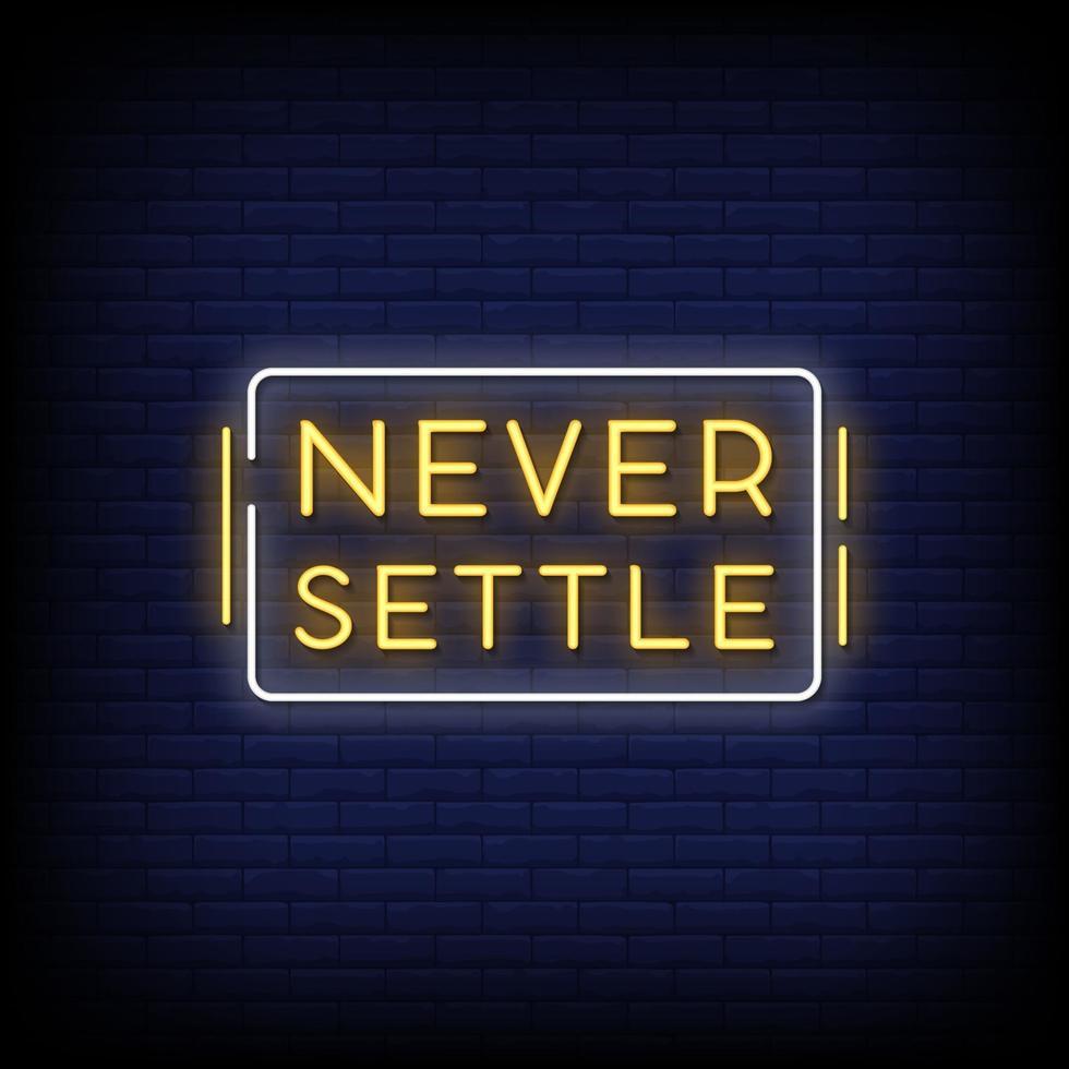 sätt aldrig neonskyltar stil textvektor vektor