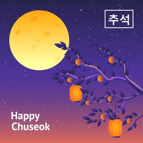 Chuseok Gruß Vektor
