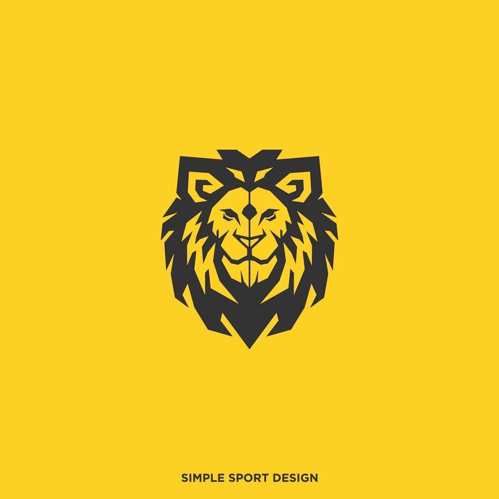 huvud lejon logotyp vektor