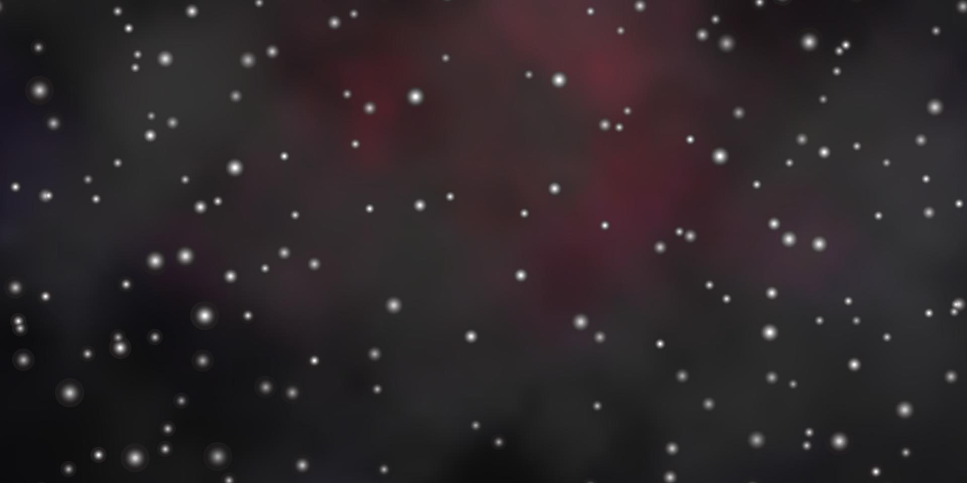mörkrosa vektorlayout med ljusa stjärnor. vektor