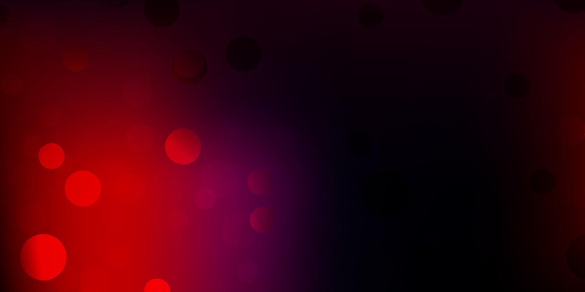 mörkblå, röd vektormall med abstrakta former. vektor