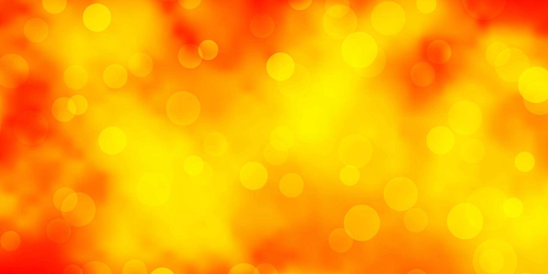 ljus orange vektor mönster med cirklar.