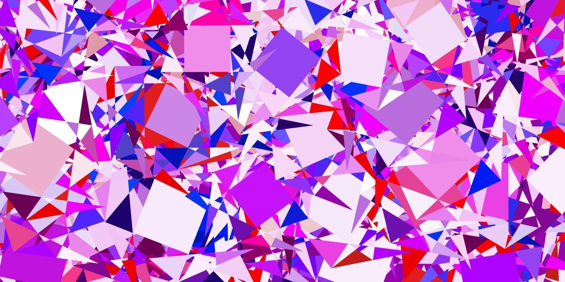 hellblaues, rotes Vektorlayout mit Dreiecksformen. vektor