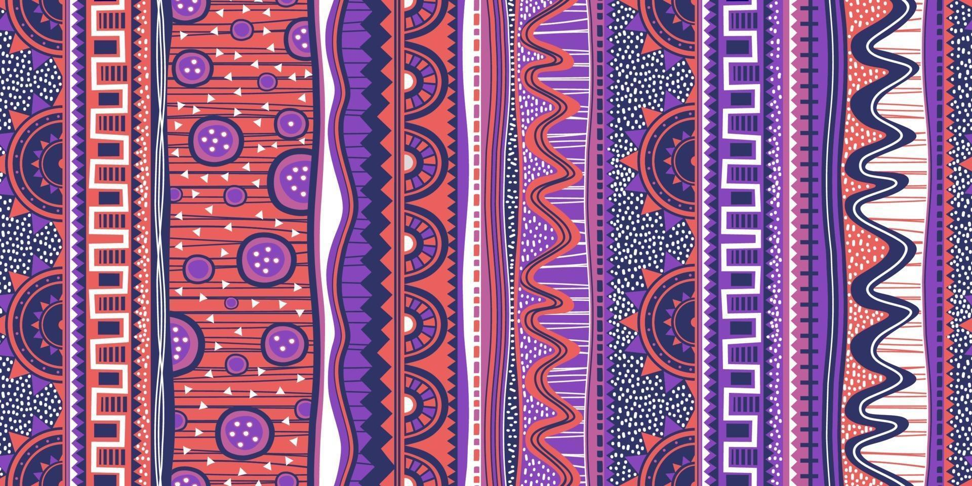 etniska sömlösa mönster. färgglad indisk, indian amerikansk design, navajo. mexikanska motiv, aztec batikmotiv prydnad, vektorillustration redo för tryck. vektor