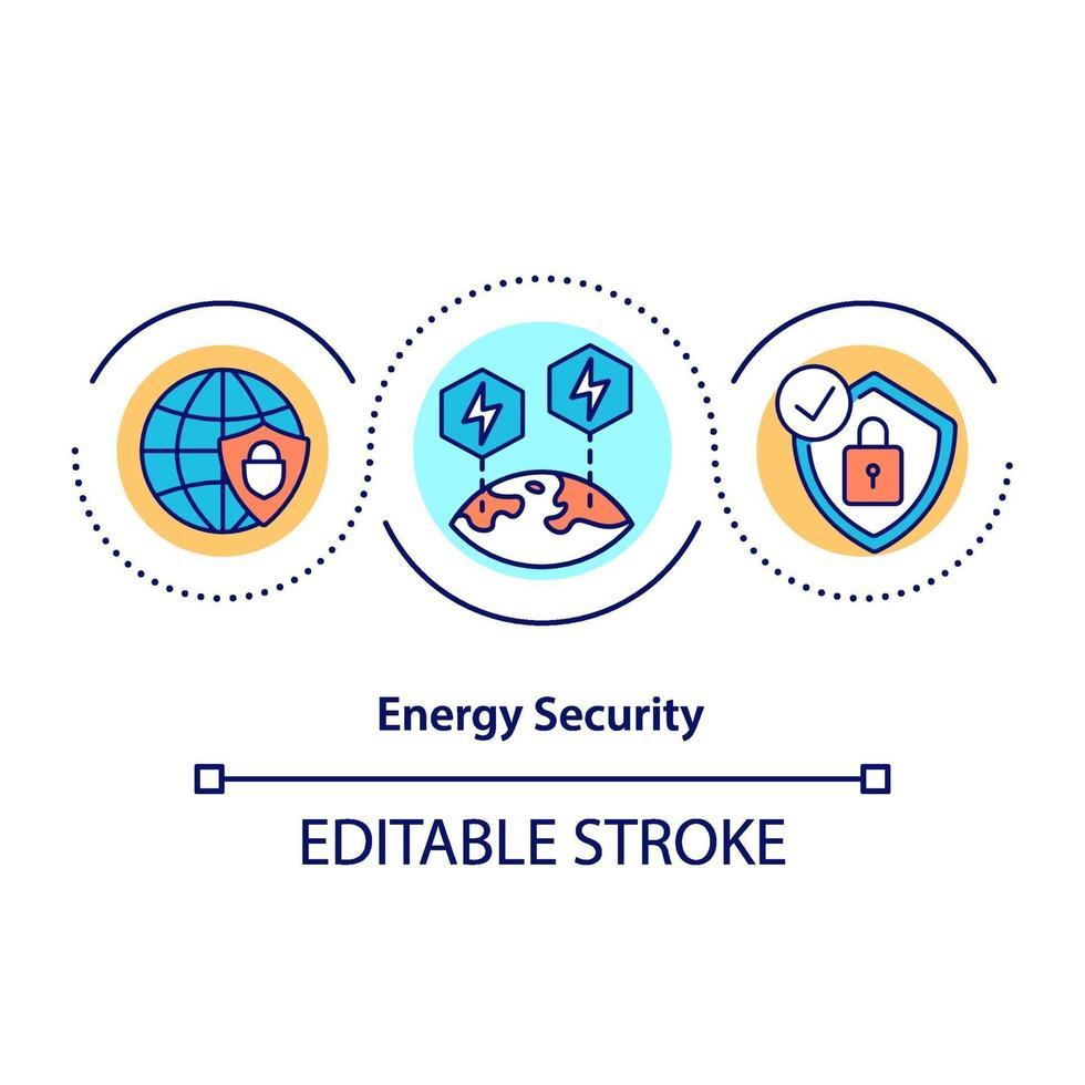 energisäkerhet koncept ikon vektor