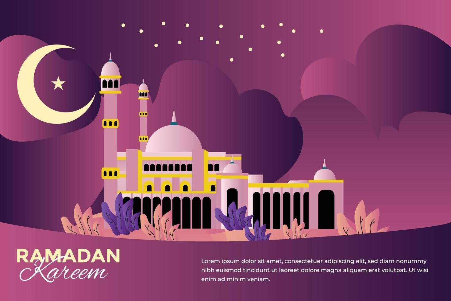 feierliche Illustration des Ramadan Mubarak vektor