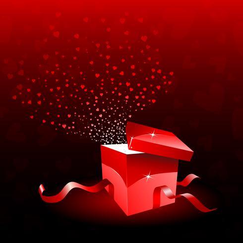 presentförpackning för Alla hjärtans dag vektor