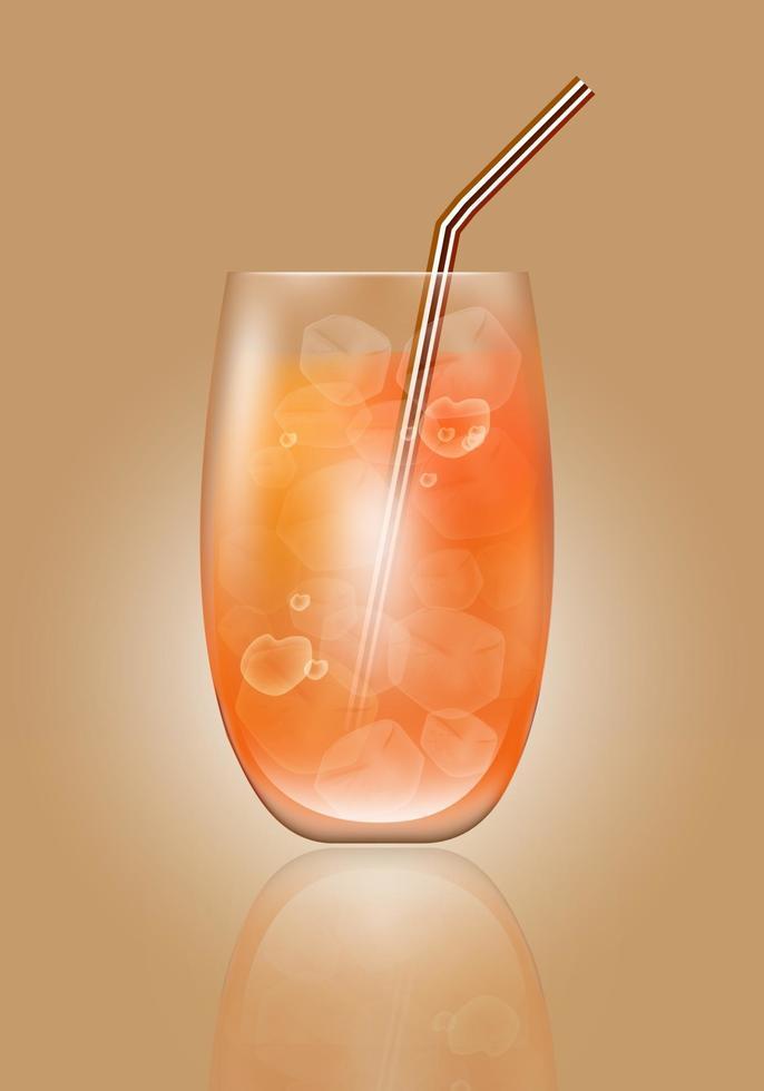 apelsinjuice och is vektor