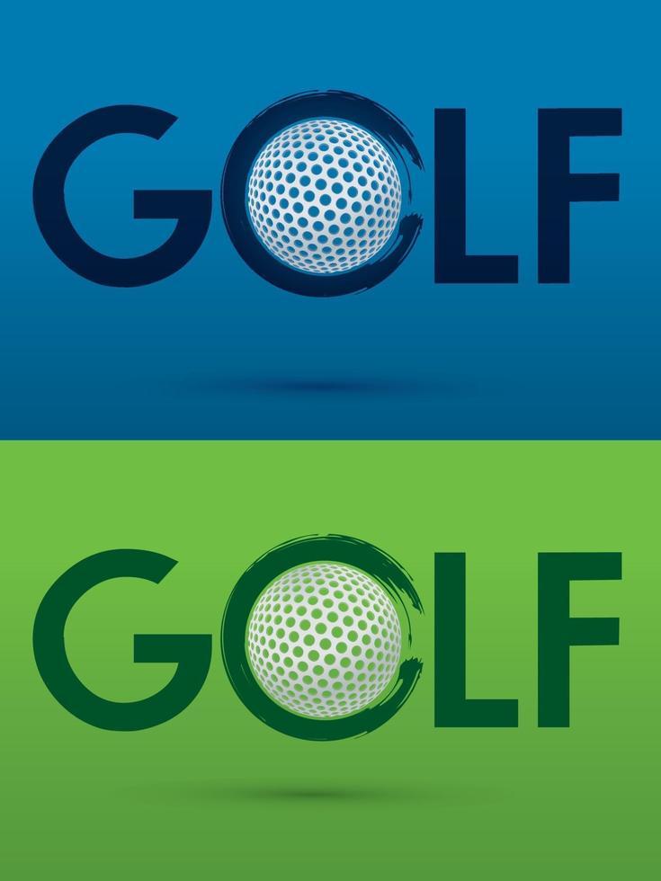 golftext med golfboll vektor