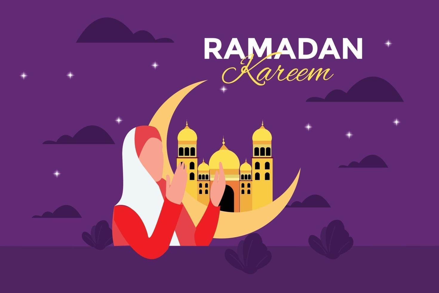 platt ramadan kareem illustration vektor