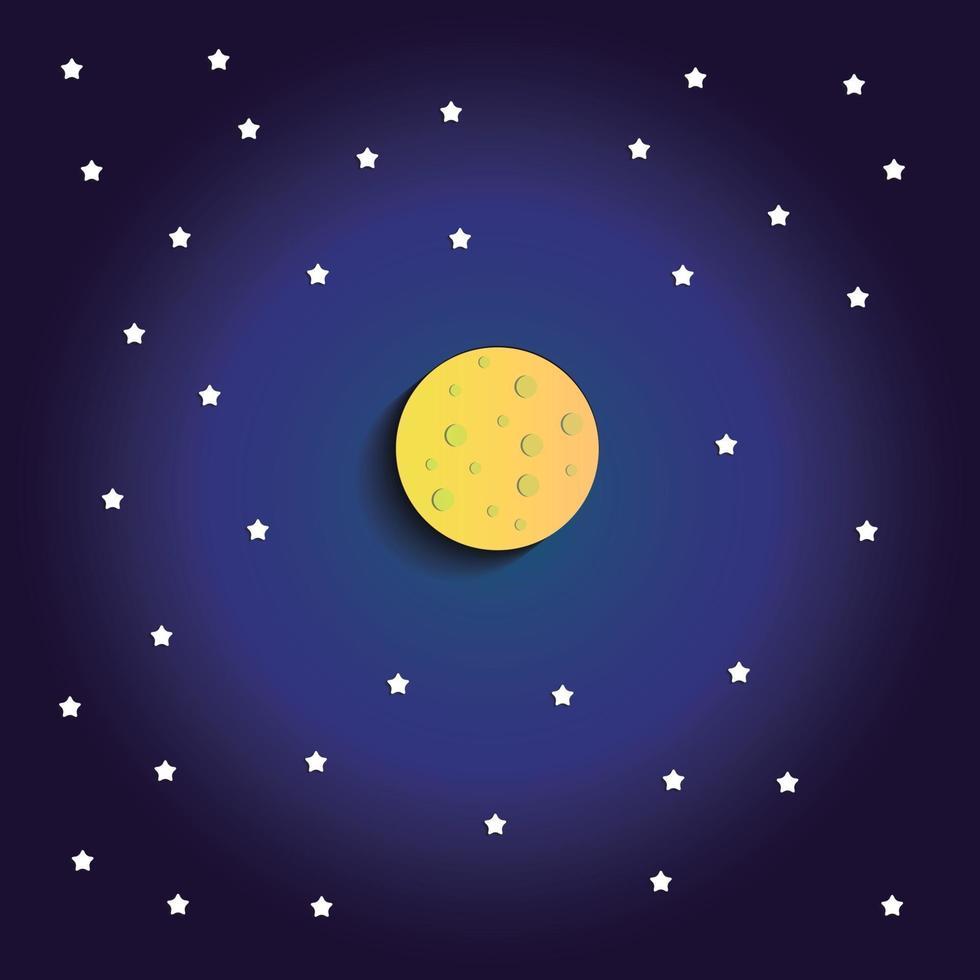 måne stjärna abstrakt bakgrund blå vektor