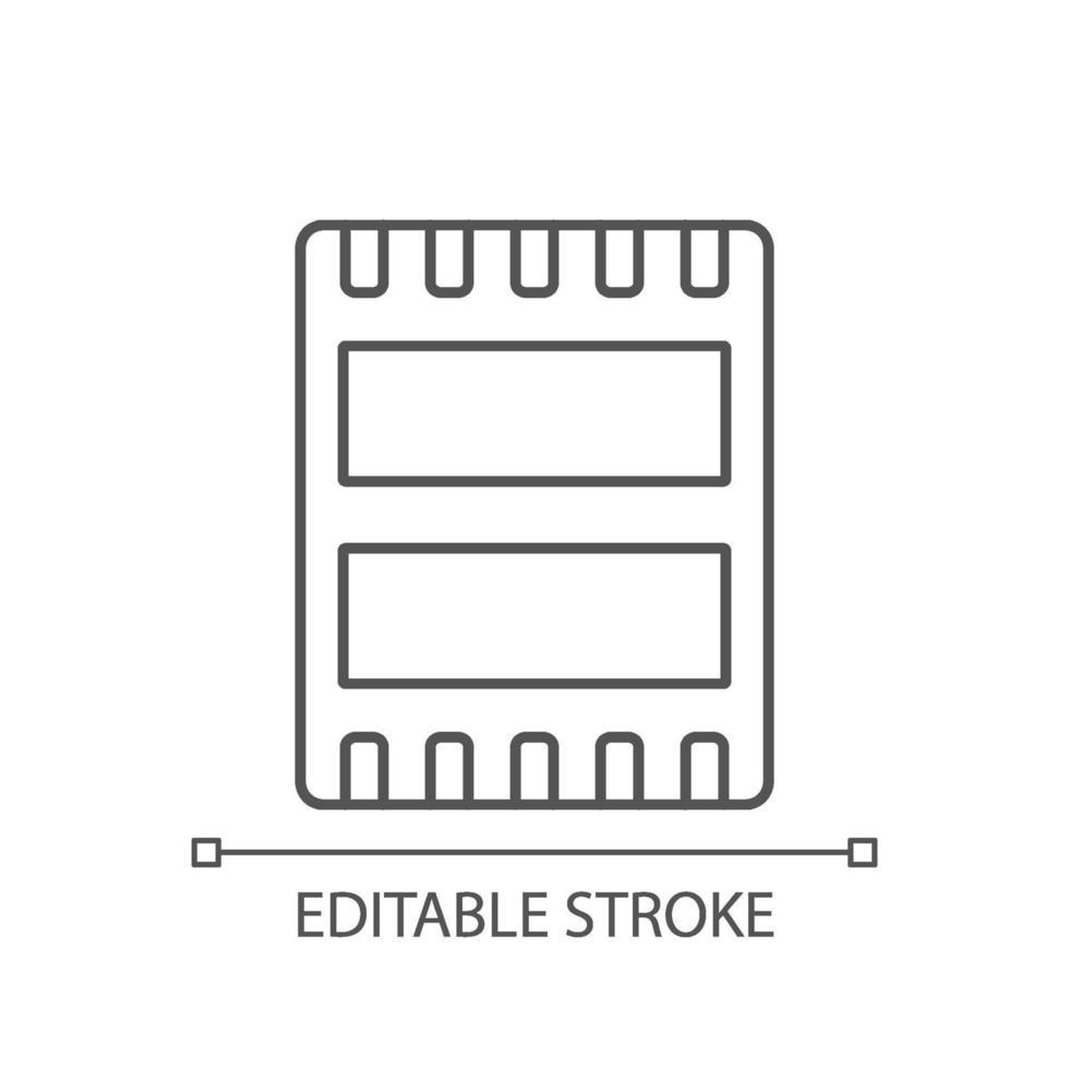 datorport linjär ikon vektor