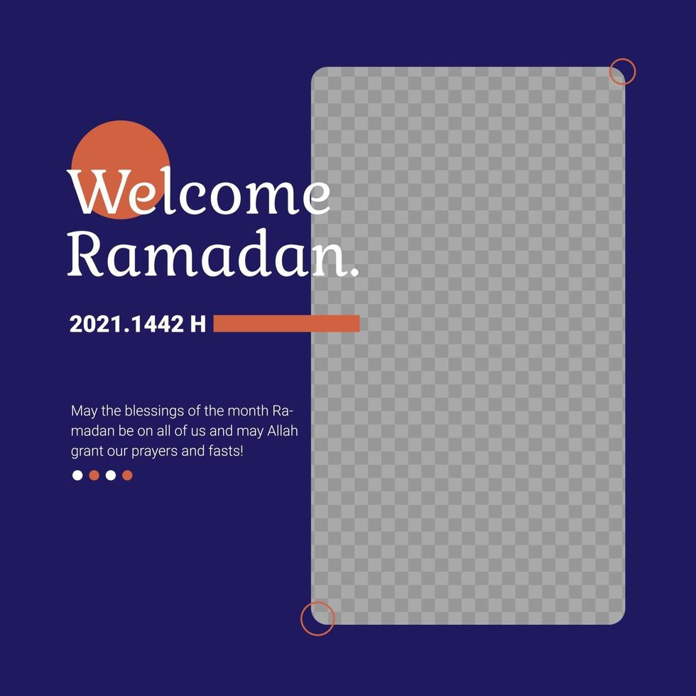 ramadan kareem firande foder post mall vektor