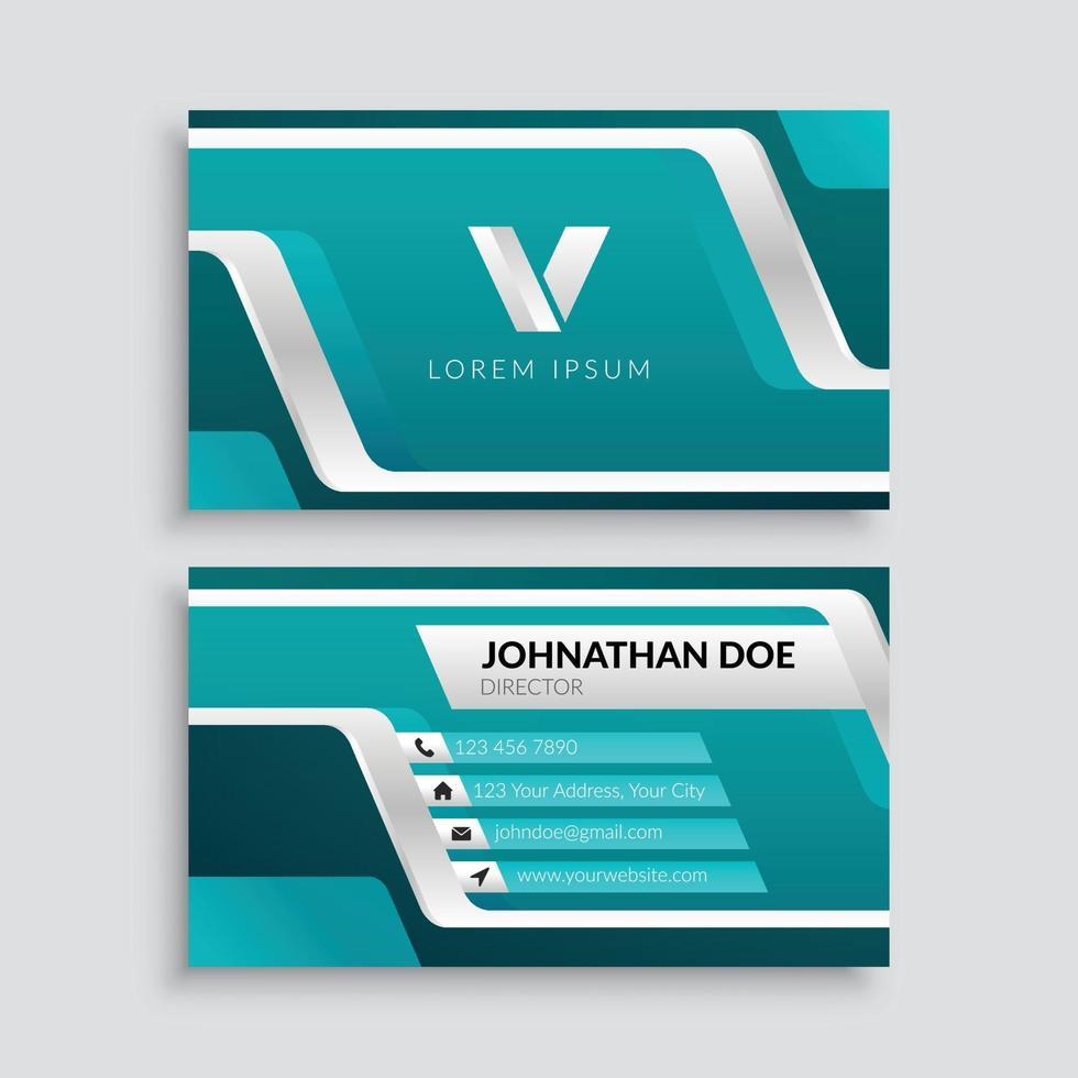 futuristiska företags visitkortsmall vektor