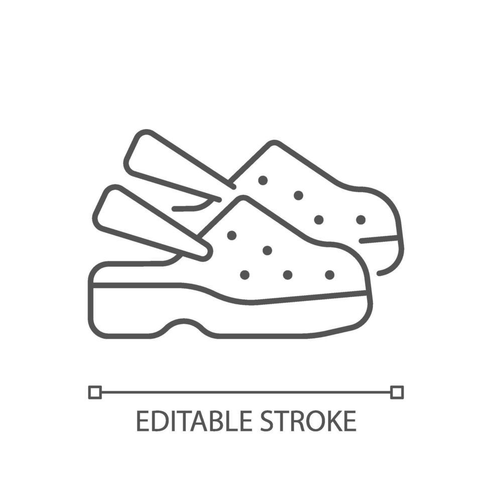lineares Symbol für medizinische Schuhe vektor