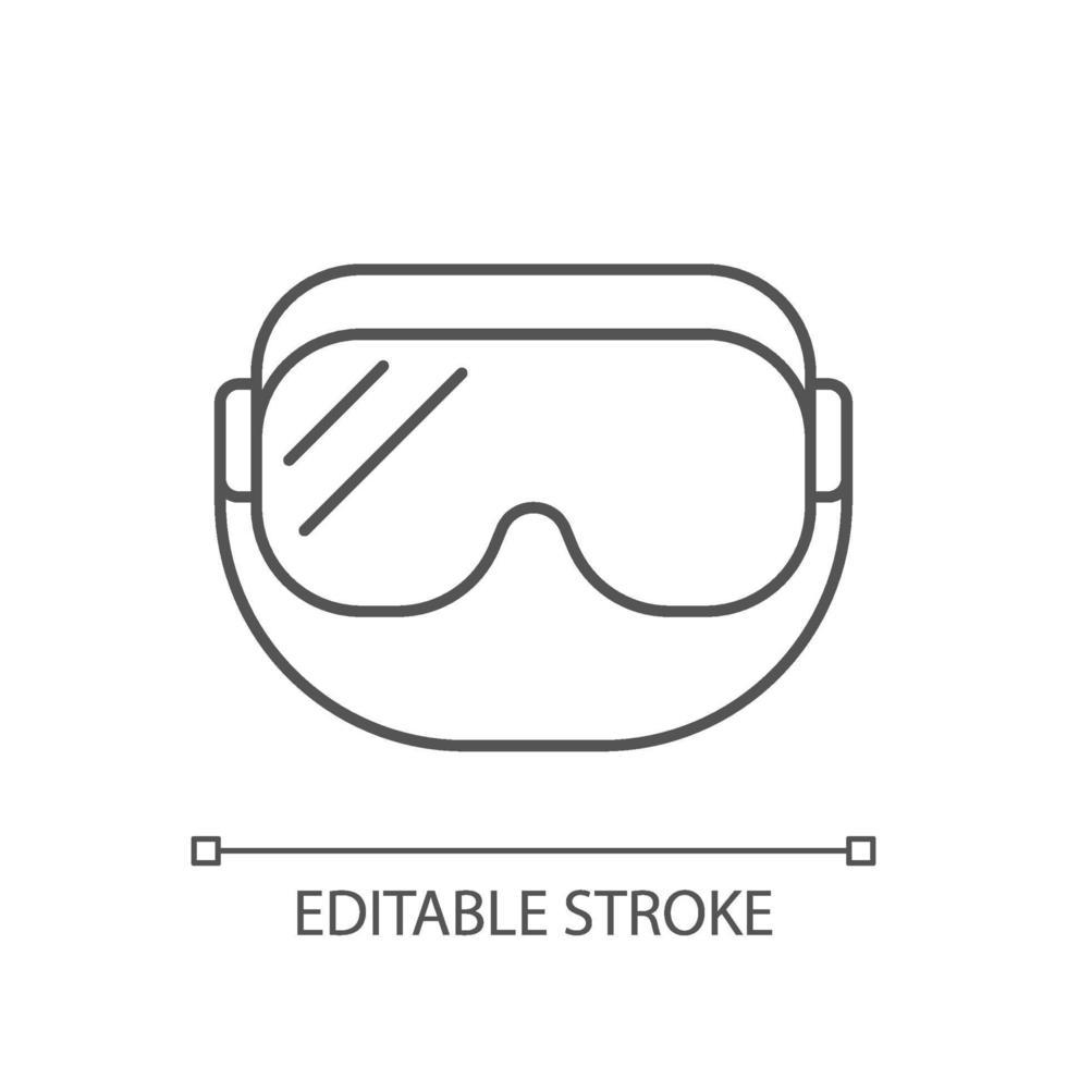lineares Symbol für medizinische Schutzbrillen vektor