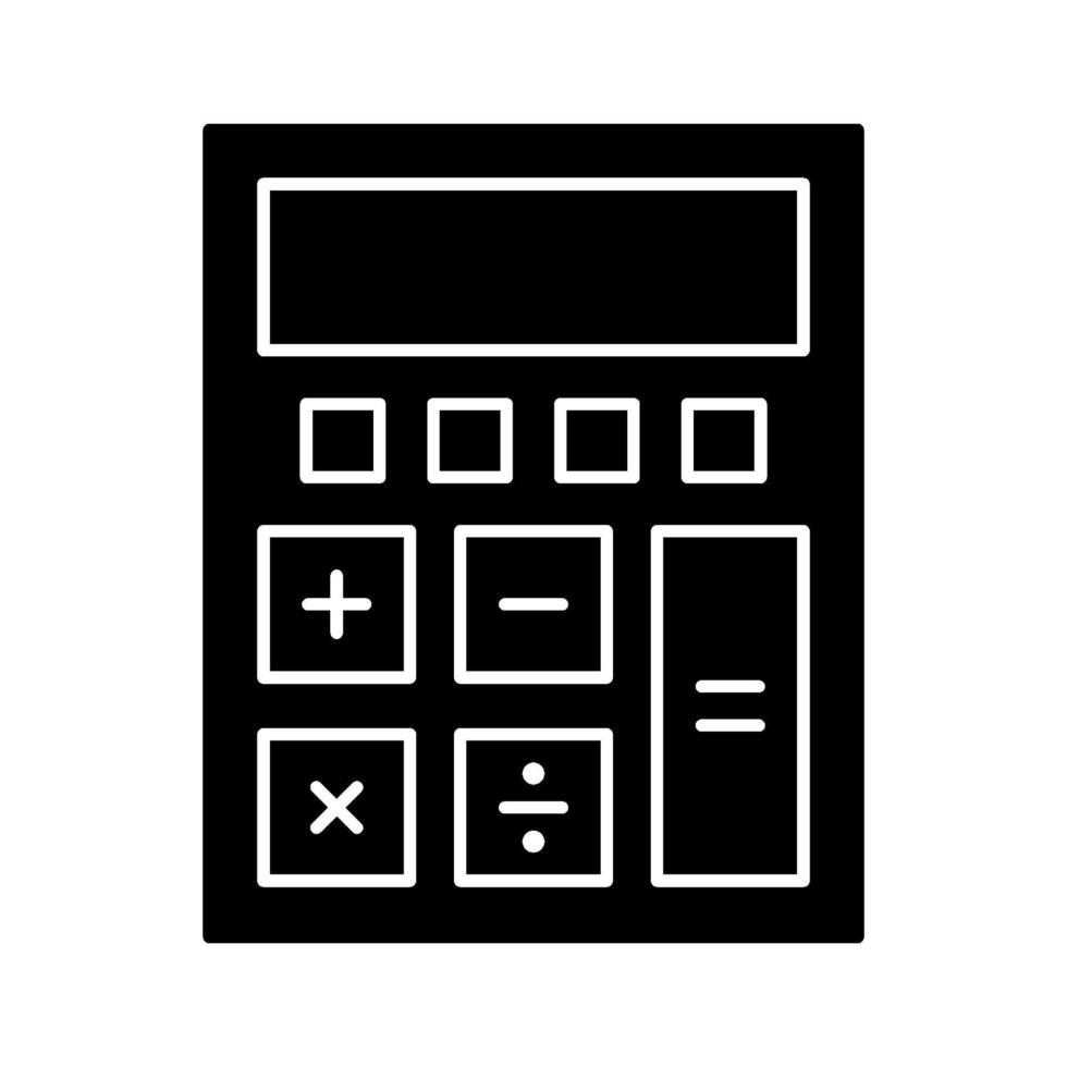 miniräknare vektor ikon