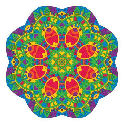 Aztekischer Art Mandalaentwurf vektor