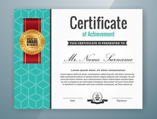 Mehrzweck Professional Certificate Template Design vektor