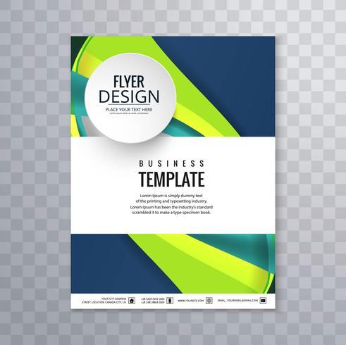 Elegant vågig affärsmall broschyr vektor
