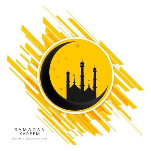 Ramadan Kareem hälsningskort bakgrund vektor
