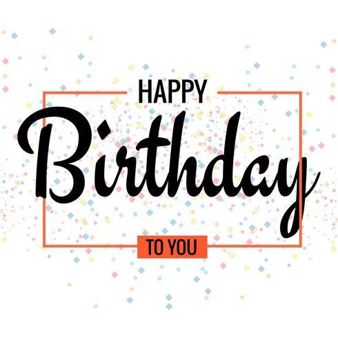 Grattis på födelsedagen. Härligt hälsningskortaffischdesign vektor