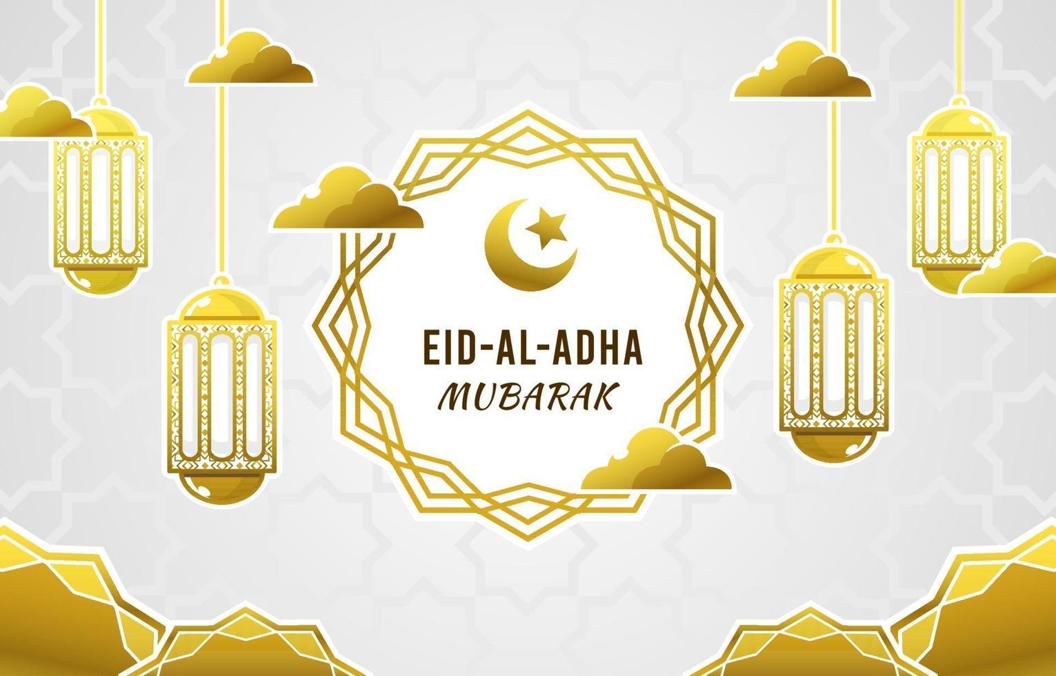 eid al adha mubarak Hintergrund vektor