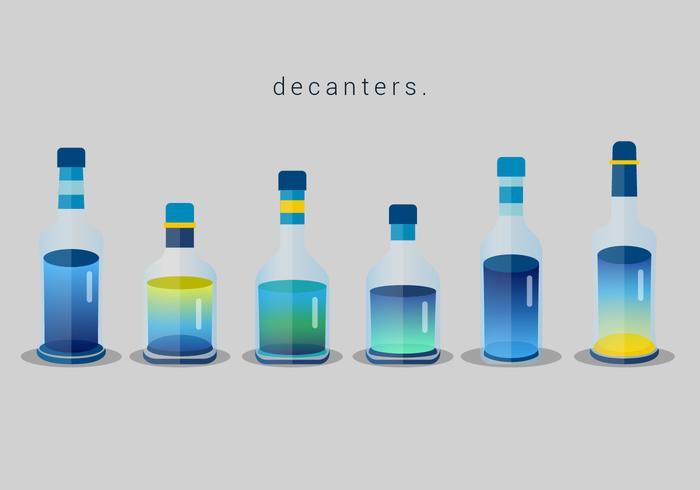 Set av Decanter Vector Elements