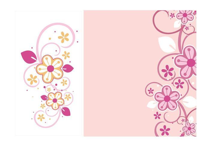 Blommigt virvlar runt vektorgrafik vektor