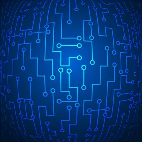 Abstrakter glänzender blauer Technologiehintergrundvektor vektor