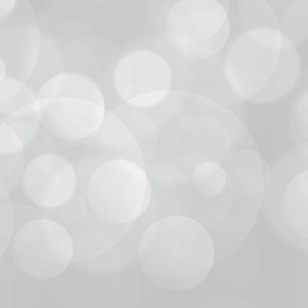 weißer abstrakter unscharfer Hintergrund mit Bokeh-Effekt vektor
