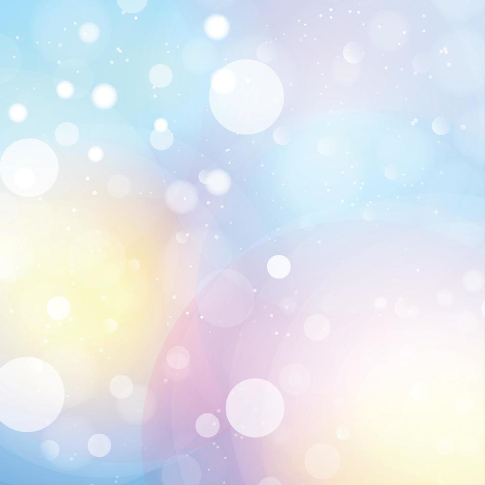 weißes unscharfes Bokeh auf blauem Hintergrund - Vektor