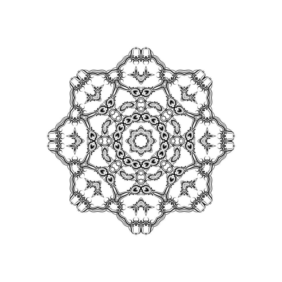 vacker mandala design isolerad bakgrund vektor