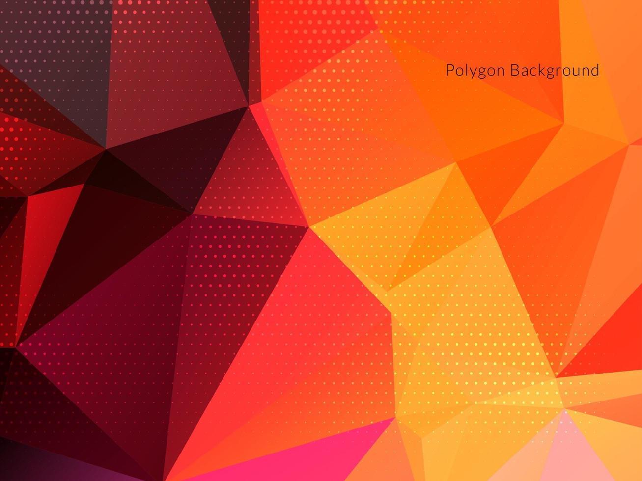 moderner bunter geometrischer Polygonhintergrund vektor