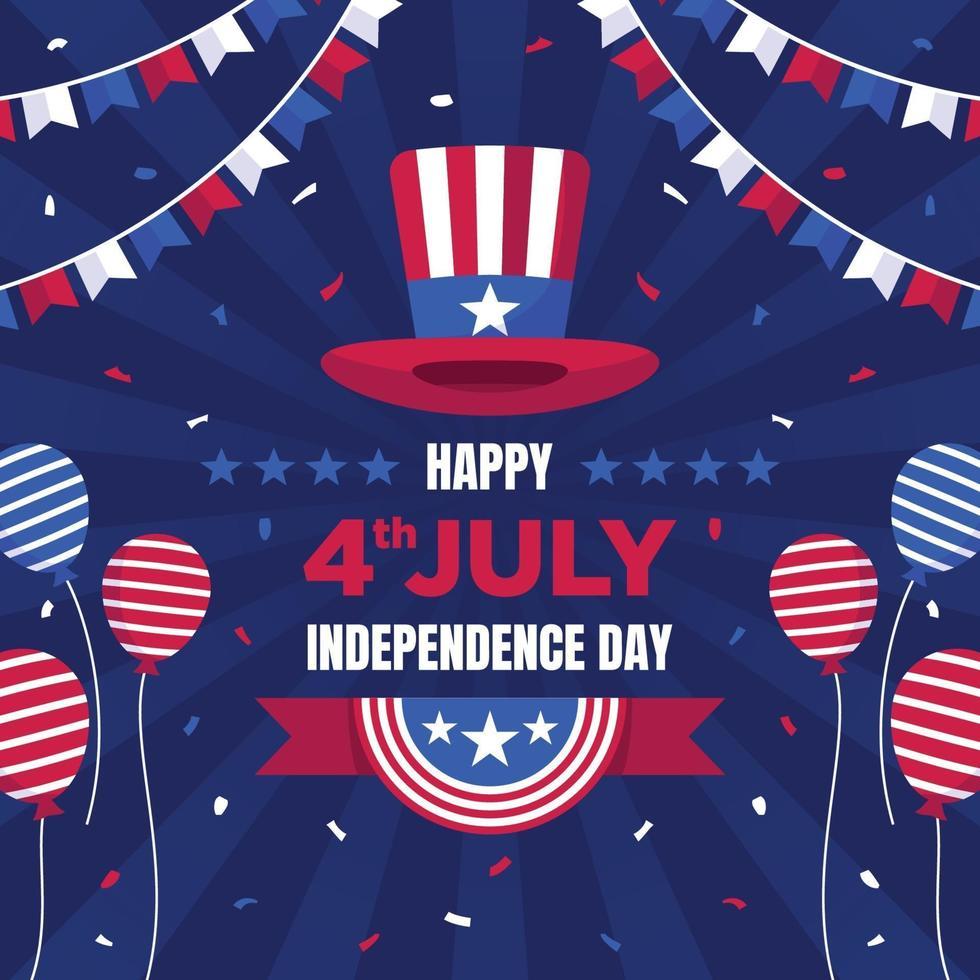 4. Juli Unabhängigkeitstag Illustration vektor