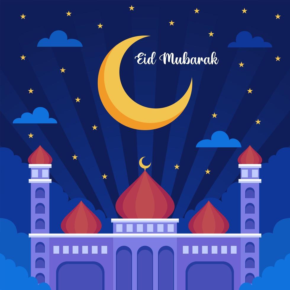 eid mubarak illustration vektor