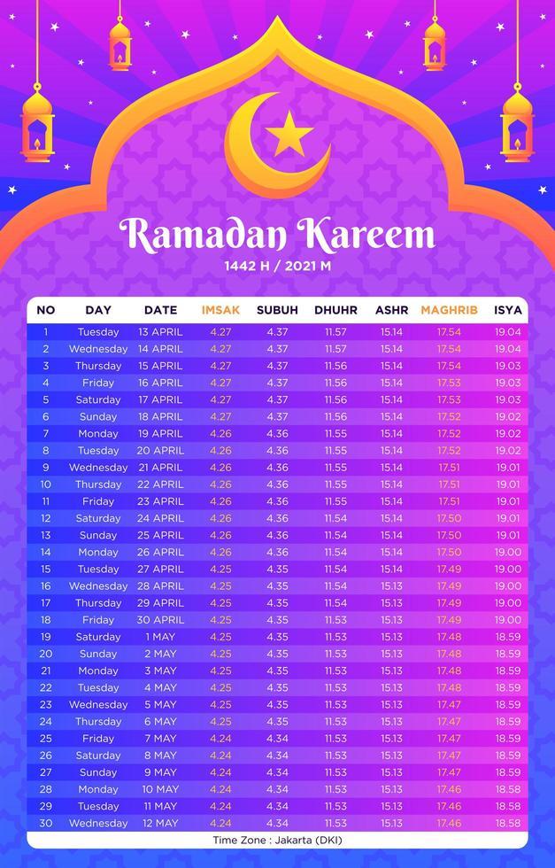 Ramadan-Vorlagenkalender vektor
