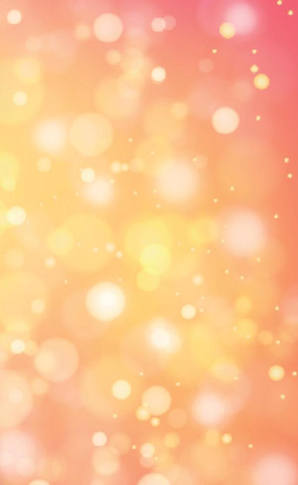 mehrfarbiges verschwommenes Bokeh auf gelbem Grund vektor