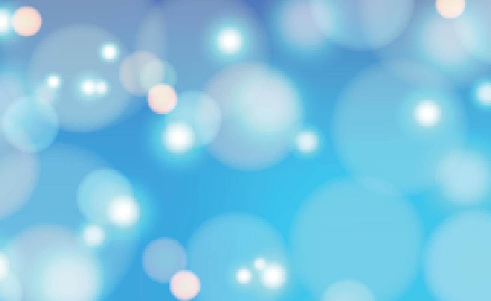 weißes unscharfes Bokeh auf blauem Hintergrund vektor