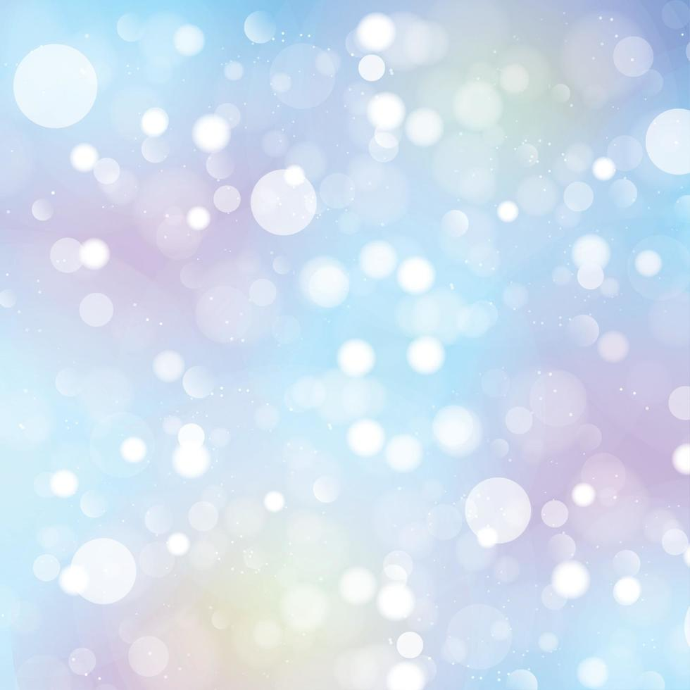 abstrakter blauer unscharfer Hintergrund mit Bokeh-Effekt vektor