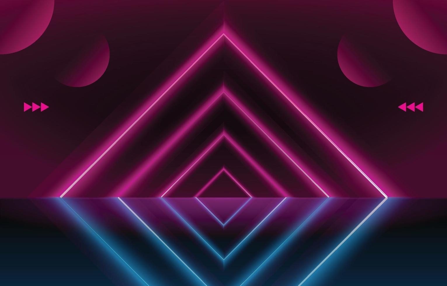 rosa Neongalaxie vektor
